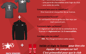 Pack seniors saison 2020/2021