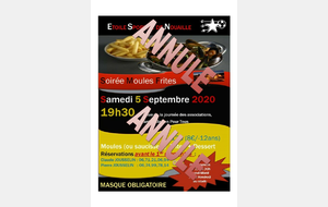 ANNULATION MOULES FRITES DU 05/09